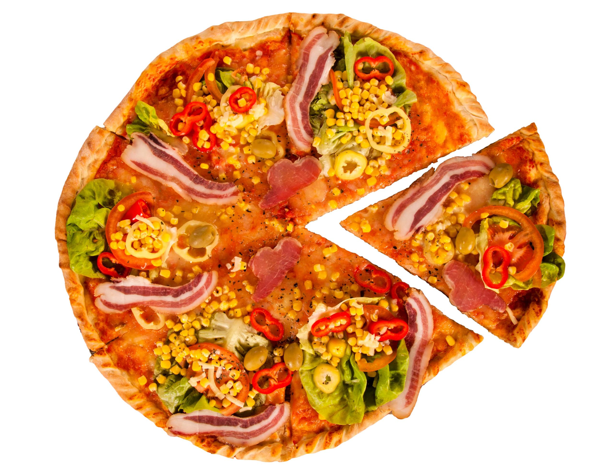healthy-pizza-on-white-background